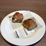 フォルクス - ミニクロワッサンサンドモーニング462円、とろっとタマゴベーコン、チョコ&バナナ