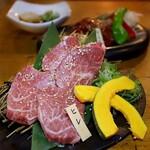牛京 - ヒレの少し厚めの焼きしゃぶ(1枚980円×2枚)