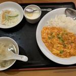 麒麟坊 - 海老チリかけご飯 ¥968