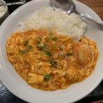 麒麟坊 - 海老チリかけご飯(アップ)