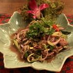 エレファントキッチン - 2012.10 ヤム・ヌア(1,520円)牛肉のピリ辛サラダです