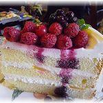 GROSVENOR CAFE - ケーキセットのベリーケーキ