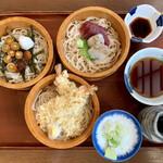 そば処寿庵 - 料理写真:寿庵三宝