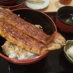 一色産地焼き鰻 福乃城 - もう一枚、コロナニマケルナ特上うな丼