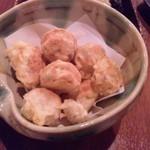 炭道楽 とり井 - 栗の天ぷら