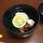 鮪 おか戸築地食堂 - 松茸のお吸い物
