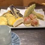 大衆酒場 はんろく - 夏野菜の天麩羅!天ぷらっすよ!?日本酒?焼酎?