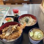 志まむら - 料理写真:天丼セット(もりそば)