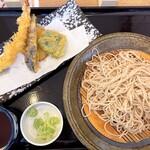 十割そば会 - 料理写真:天ぷらそば(海老天ざる)