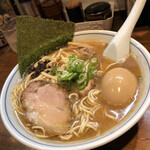 むらさき山 - 味玉そば¥900+麺大盛り¥120