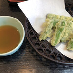信州蕎麦の草笛 - 季節の天ぷら