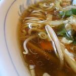 桃園 - 野菜ラーメン スープ