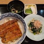 154900605 - 【2021/7】うな丼+法蓮草お浸し