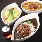一心 - 料理写真:黒ごま坦々麺・白ごま坦々麺・ピリ辛坦々麺