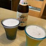 うどん匠人 岡本 - 瓶ビールが旨い!