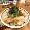 みししっぴ饂飩 - 料理写真:海老と揚げ餅のおうどん(冷、並)