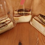 YES!!カツサンド - 料理写真:オリジナル(左)、デミグラス(中)、カツカレー(右)