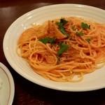 くつろぎの食事処 風来橋 - 料理写真:ランチ カニのトマトクリームスパとライス