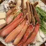 かに満 - 火を通さずとも食べられる新鮮蟹をお鍋で頂く