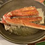かに満 - ずわい蟹の陶板焼き