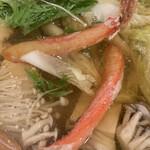 かに満 - お出汁が絶品の蟹鍋