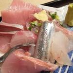 新助 - ランチ「お刺身定食900円」。新鮮なお刺身!種類も豊富。