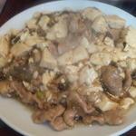 15496909 - 本日のランチで雪菜の肉豆腐煮込み