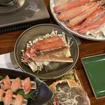 かに満 - 蟹刺し 蟹バター焼き 蟹鍋 蟹味噌♪♪♪♪