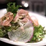 ベーカリー&レストラン 沢村 - 信州野菜と生ハムのサラダ