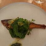 154969084 - 鮎のクロカンテと畑のお野菜