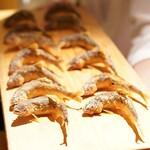 東山 吉寿 - 鮎の塩焼き