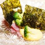 東山 吉寿 - 冷しゃぶ 玉蜀黍のソースで