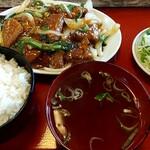 光彩 - 料理写真:レバー炒め定食