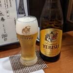 厚田村 - 瓶ビール エビス