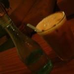 155311 - アイスカフェラテ。ガムシロップは瓶に!