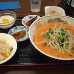 龍膳 - 四川ごま風味味担々麺(ミニ炒飯付) 850円
