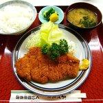 くい道楽支店 - くい道楽支店 @佐野 とんかつ定食 900円