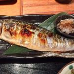 久茂地日本酒エビス  - 備長炭干しの焼きサバ定食(焼きサバ)