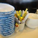 あづまラーメン - 卓上②子供用に取り皿やスプーンも