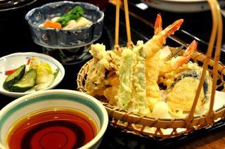 港キリン - 天ぷら定食1100円