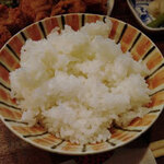 鳥兆 - 白米も美味しぃ。