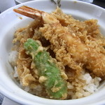 天布良 万喜 - お昼のサービス天丼