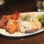 なかめくん - 鶏の唐揚げ南蛮ご飯。これでワンコイン。文句のつけようがないです。