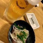 居酒屋遊心 - 料理写真:キンキンビールとお通し