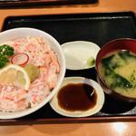 木々亭 - 料理写真:カニめし 味噌汁付き
