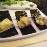 和匠よし乃 - 2012.10.25 鮑天ぷら 大江海苔添え