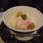 和匠よし乃 - 2012.10.25 梨、ぶどう、炙りいちごアイス