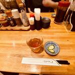 とんかつ 檍 - テーブル