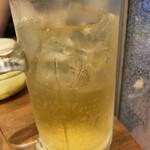 焼肉 房家 - リンゴ酢サワー(メガジョッキ)