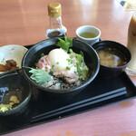 155129431 - 2021/07 お昼の12時までやってるモーニングメニューからネギトロ丼モーニング ドリンクセット 1,080円